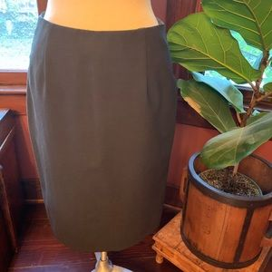 Charcoal gray Banana Republic stretch pencil skirt